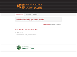 Phat Eatery gift card purchase