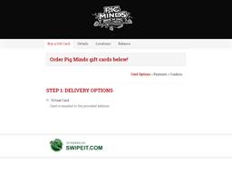 Pig Minds gift card balance check