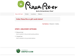 Pizza Pie-er gift card balance check