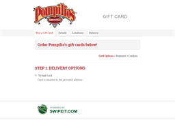 Pompilio's gift card balance check