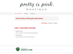 Pretty Is Pink gift card purchase