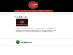 Prezo Grille & Bar gift card balance check