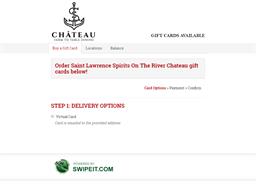 Saint Lawrence Spirits On The River Chateau gift card balance check