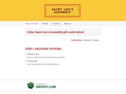 Saint Lou's Assembly gift card balance check