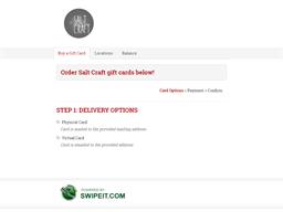 Salt Craft gift card balance check