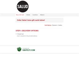 Salud Juice gift card balance check