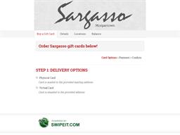 Sargasso gift card balance check