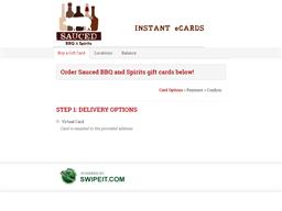Sauced BBQ and Spirits gift card balance check