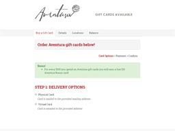 Sava's gift card purchase