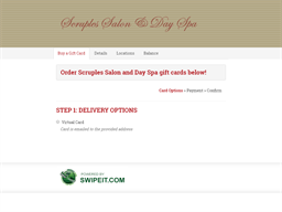 Scruples Salon and Day Spa gift card purchase
