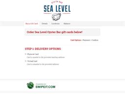 Sea Level Oyster Bar gift card balance check