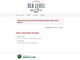 Sea Level Oyster Bar Newburyport gift card balance check