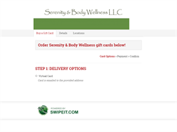 Serenity & Body Wellness gift card purchase
