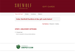 SheWolf Pastificio & Bar gift card balance check
