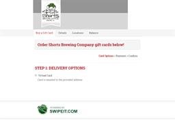 Shorts Brewing Company gift card balance check