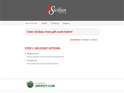 Sicilian Oven gift card balance check