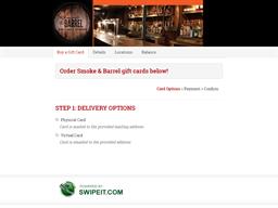 Smoke & Barrel gift card purchase