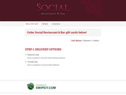 Social Restaurant & Bar gift card purchase