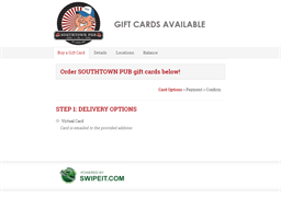 SOUTHTOWN PUB gift card purchase