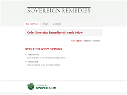 Sovereign Remedies gift card purchase