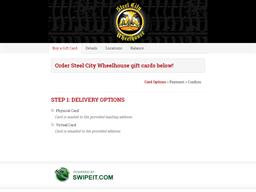 Steel City Wheelhouse gift card balance check
