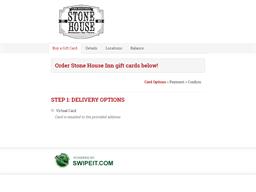 Stone House Inn gift card balance check