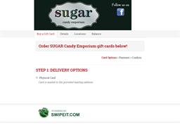 SUGAR Candy Emporium gift card balance check