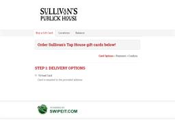 Sullivan's Publick House gift card balance check