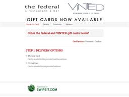 Vinted Wine Bar and Kitchen gift card balance check