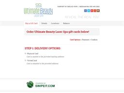Ultimate Beauty Laser Spa gift card balance check