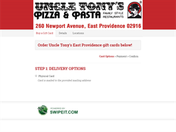 Uncle Tony's East Providence gift card purchase