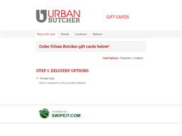 Urban Butcher gift card balance check