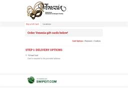 Venezia gift card purchase