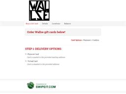 Wallse gift card balance check