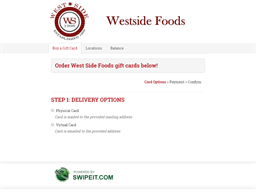 West Side Foods gift card balance check