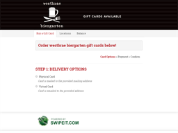 westbrae biergarten gift card balance check