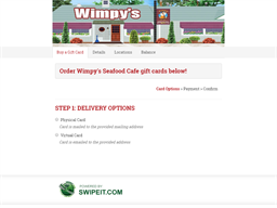 Wimpy's Seafood Cafe gift card purchase