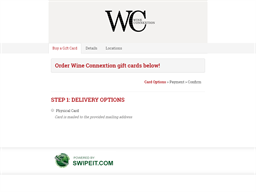 Wine Connextion gift card purchase