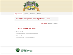 Woodbury Farm Market gift card balance check