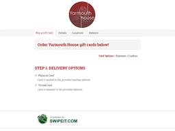 Yarmouth House gift card balance check