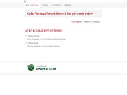 Yatenga French Bistro & Bar gift card purchase