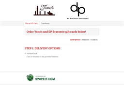 Yono's and DP Brasserie gift card purchase