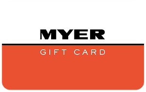Myer gift card purchase