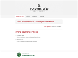 Padrino's Cuban Cuisine gift card purchase