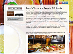 Paco's Tacos and Tequila gift card purchase