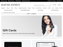 David Jones gift card purchase