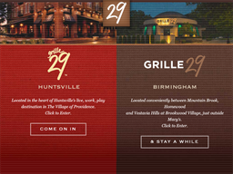 Grille 29 shopping