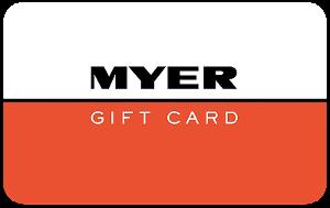Myer Returns gift card design and art work