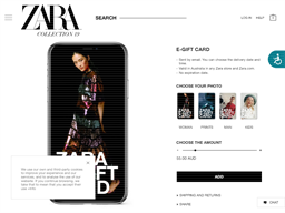 Zara gift card purchase