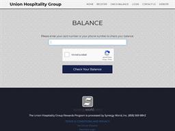 Union Hospitality Group gift card balance check
